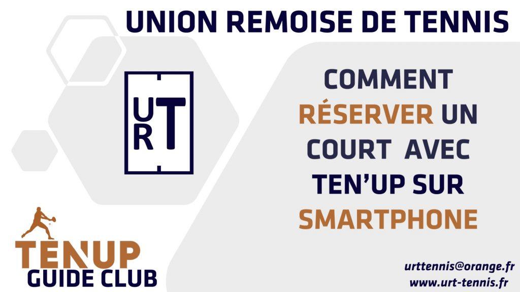 URT-Reserver un Terrain via Application TenUp 2021